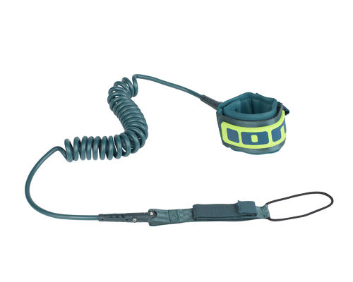 "ION SUP Leash coiled 8"" petrol"