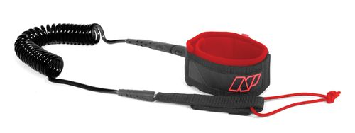 "NP SUP Race Leash Knee 10"" - 5mm red/black"