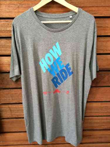 Fanatic Tee How we ride, grau