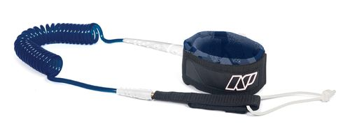 "NP SUP Race Leash Knee 10"" - 5mm white/navy"
